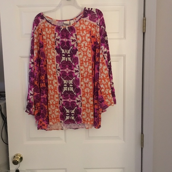 Chico's Tops - New Chico's Flare Sleeve Top XXXL